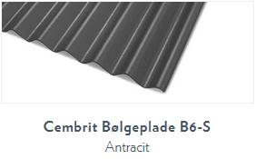 Bølgeplade B6-S Antracit