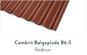 Bølgeplade B6-S Rødbrun