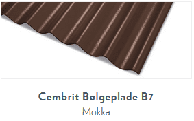Bølgeplade B7 Mokka