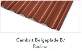 Bølgeplade B7 Rødbrun