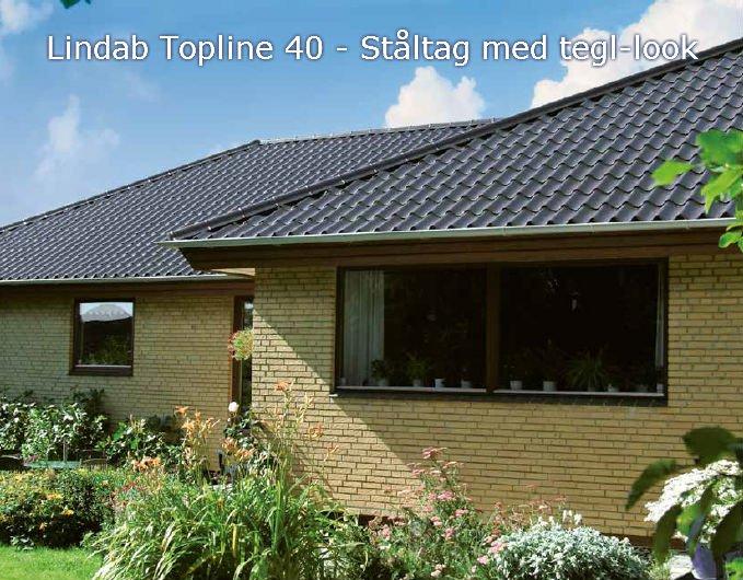 Lindab Topline 40 monteret på Parcelhus