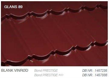 Metrotile Bond Prestige Farve Blank Vinrød