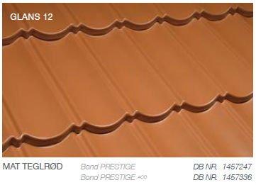Metrotile Bond Prestige Farve Mat Teglrød