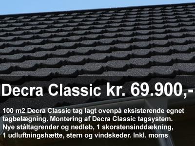 Priseksempel på et Decra Classic tag