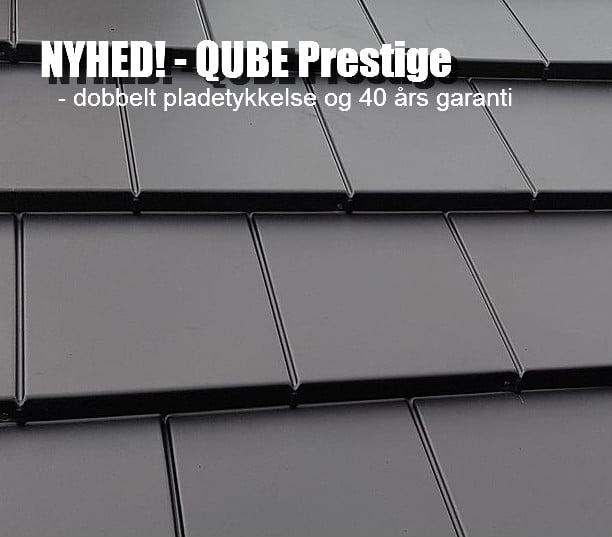 Det nye QUBE Prestige ståltag har dobbelt pladetykkelse og giver virkelig konkurrenten Quadro By Icopal kamp til stregen ikke mindst garantimæssigt.