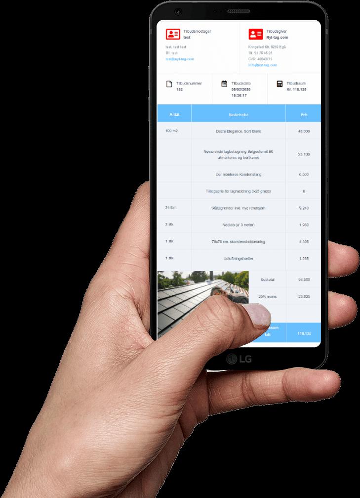 Brug din mobiltelefon til at beregne pris på nyt tag