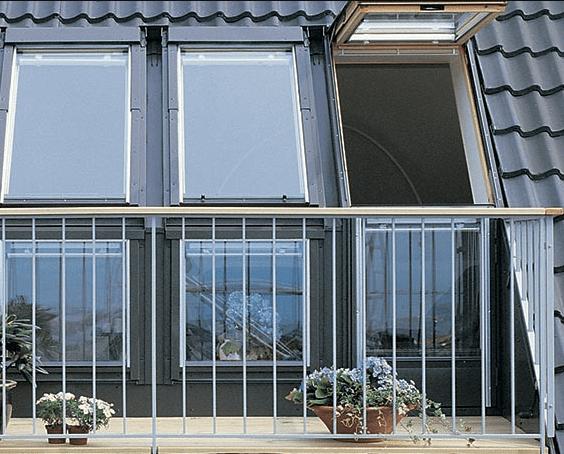 Velux tagterrasse kan kombineres med flere elementer og som vindue eller oplukkelig som dør