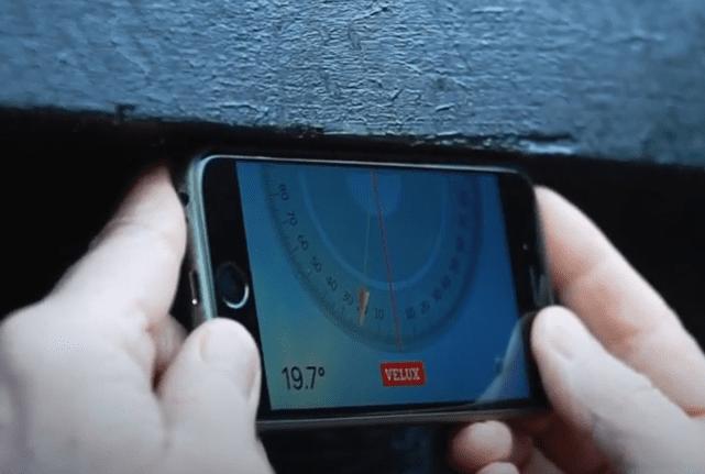 Taghældnings app til din mobiltelefon